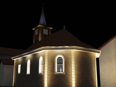 Sugnens – Éclairage de l'église